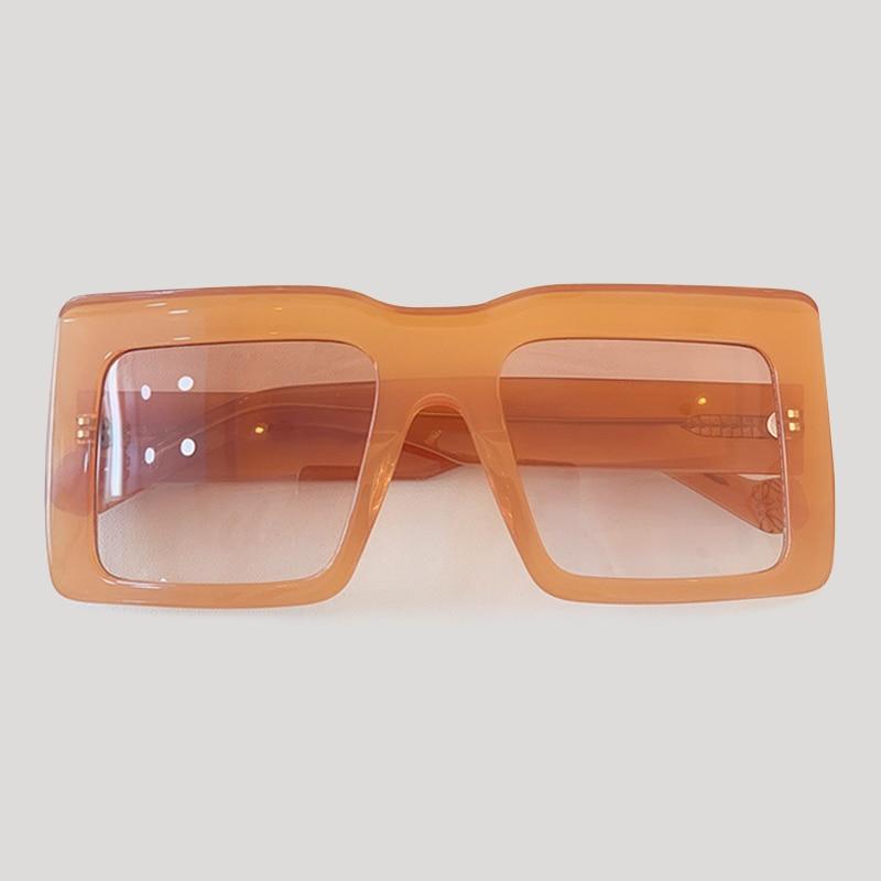 Oversized Rectangle Sunglasses Women Square Thick Frame Fashion Sun Glasses For Men