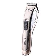 Умная зарядка в стиле ретро, белая масляная голова, электрическая машинка для стрижки волос, полностью моющаяся машинка для стрижки волос с фейдером, Km-5035