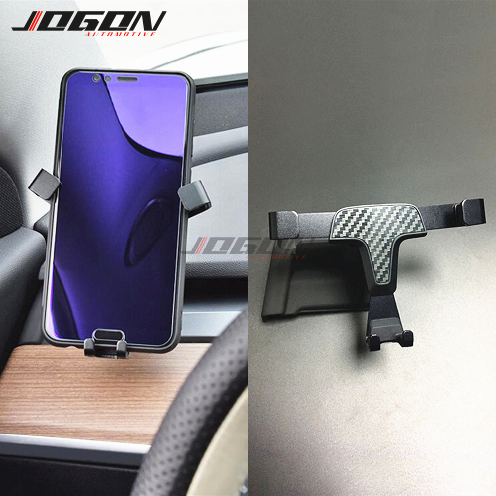 Car Accessories Air Vent A Pillar Cradle Cell Phone Holder Support For Tesla Model 3 2017-2020 Stand Mount
