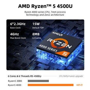 Machenike AMD Ryzen 5 4500U Laptop WiFi 6 Ultrabook R5 4500U 8G 3200MHz 512G SSD 15.6'' FHD Notebook Office Student Laptop 2