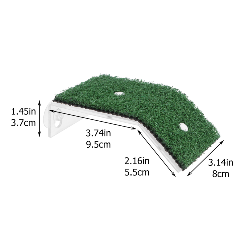 1pc Turtle Drying Platform Simulated Lawn Reptile Tortoise Climbing Ladder