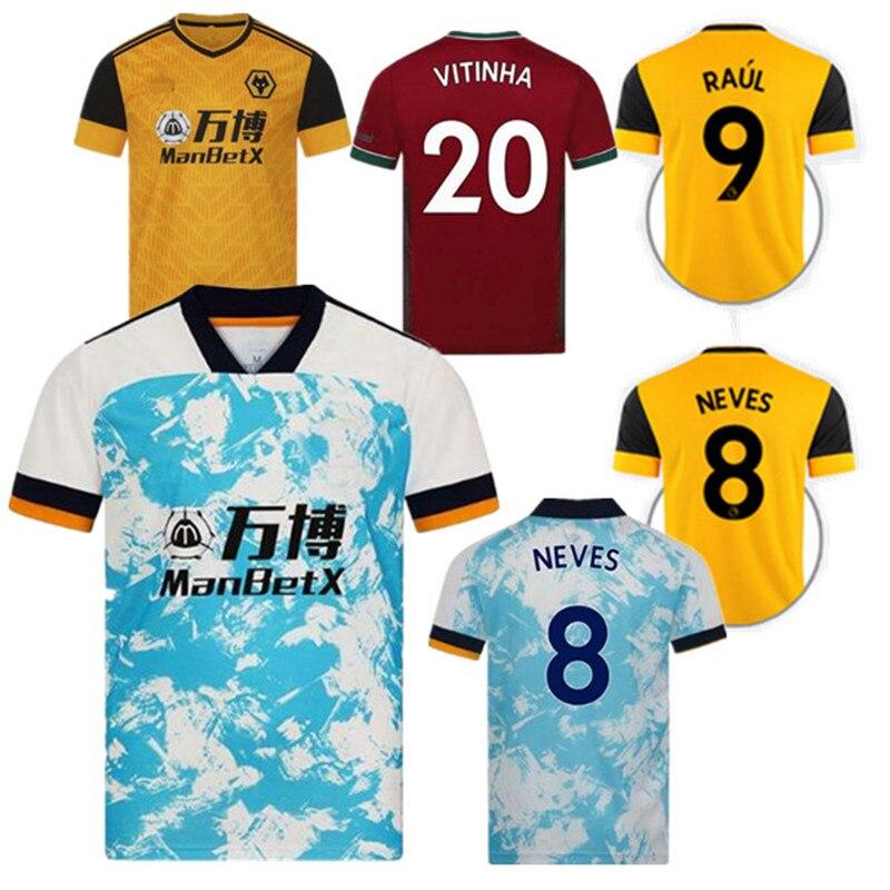 Camisetas de fútbol de Wolves, SEMEDO, RAUL NETO 20, 21 Wanderers, J.OTTO, PODENCE, Lobezno, Kit de ADAMA, 2021|Camisetas de fútbol| - AliExpress