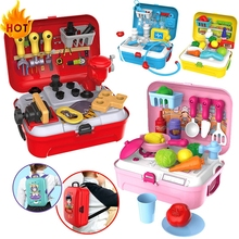 House-Toys Doctor-Set Gift Pretend Play Kids Children Plastic for Backpack Cooking Baby