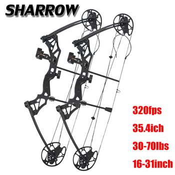 1 Set 30-70 lbs Compound Bow IBO 320 fps Ourdoor Hunting Bow Fishing Shooting 16-31inch Draw Length Sports Archery Bow And Arrow topoint archery compound bow package t1 cnc milling bow riser 19 30in draw length 19 70lbs draw weight 320fps ibo