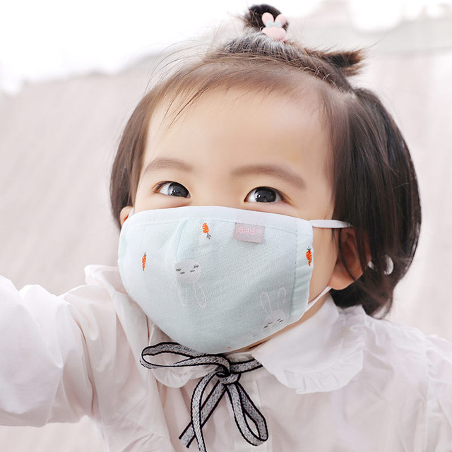 5pcs Children Cotton mascarillas Wash Reusable Kids Mask lavabili Girls Mouth-muffle bacteria Flu baby face masks reutilizables 3