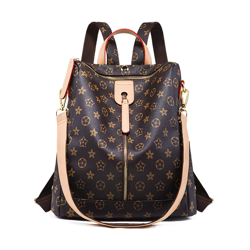 Backpack Women's Luxury Brand Design Ladies Backpack Quality Leather Print Pattern Backpack Shoulder Travel Casual Backpack