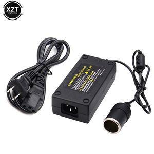 Image 1 - 5a 60w carro inversor isqueiro adaptador soquete conversor de energia 220v ac para 12v dc para carro bomba ar aspirador de pó