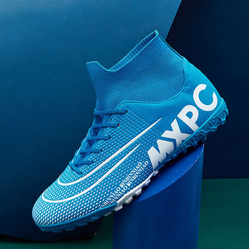 MWY Football Boots Men Outdoor High Ankle Soccer Cleats Women SneakerS Futsal Shoes Voetbalschoenen Kids Sport Trainers Shoes