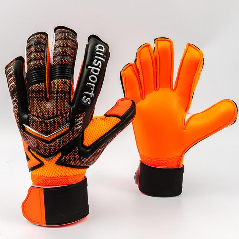 4MM Latex Goalkeeper Gloves Finger Protection Thickened Soccer Goalie Gloves Professional Football Goalkeeper Gloves 7