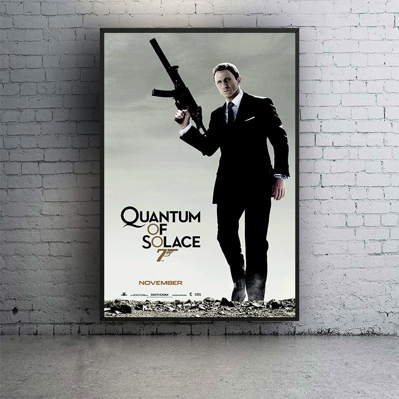 /' James Bond 007 /' Movie Film Canvas Wall Art Deco