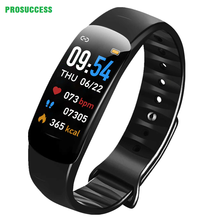 C1 Color Screen Smart Bracelet With Heart Rate Blood Pressure Pedometer Bluetooth Push Notification Call ReminderLongStandby