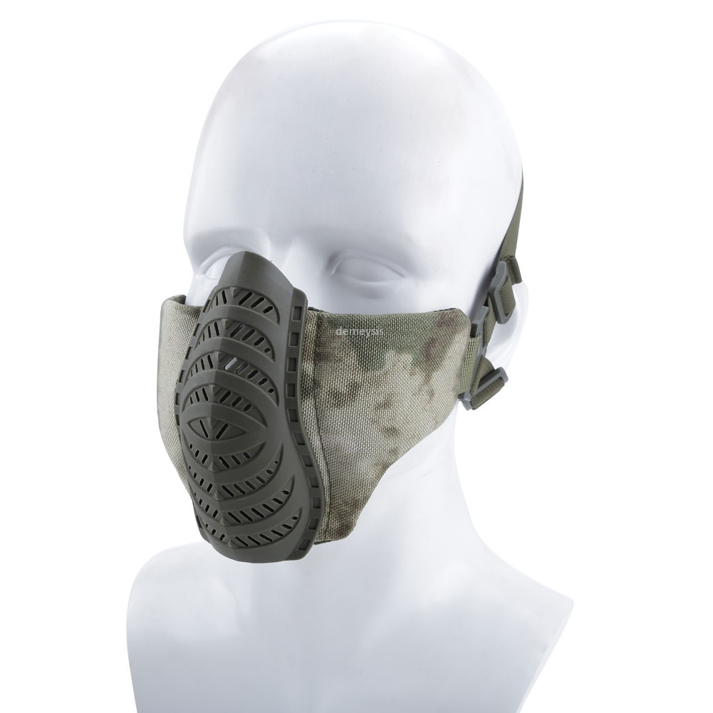Airsoft Tactical Half Face Mask Breathable Paintball Mask Hunting CS Game Protection Lower Mask