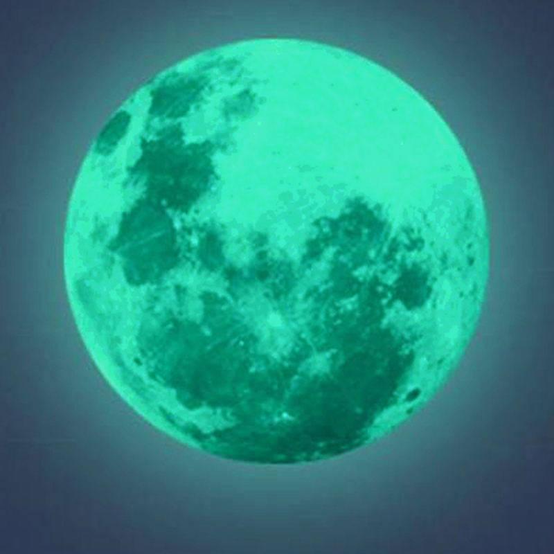 Luminous Moon Wall Sticker DIY 3D Wall Stickers for Kids Room Bedroom Glow In The Dark Wall Sticker Home Decor Living Room