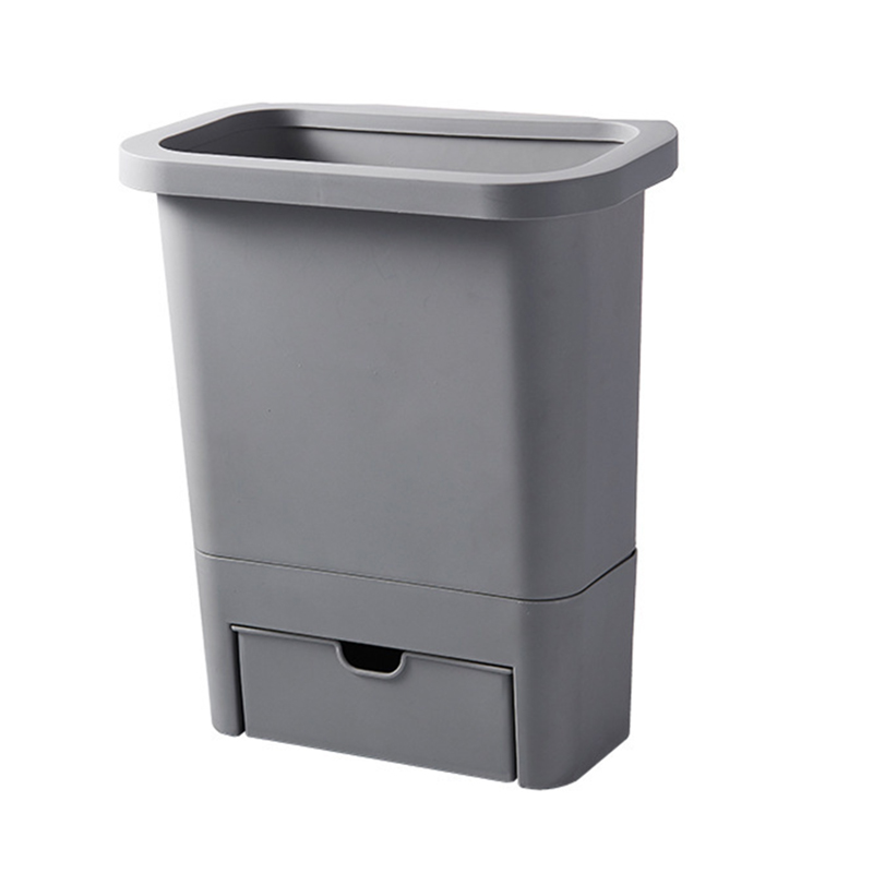 Kitchen Cabinet Door Hanging Trash Garbage Bin Can Rubbish Container Kitchen Accessories 66CY