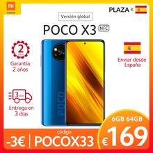 (-14€ code:AEMARDEAL14 )POCO X3 – Smartphone NFC, Version globale, 6 go 64 go 128 go, Snapdragon 732G, écran 6.67 pouces, caméra Quad 64mp, batterie 5160mAh, FC 33W