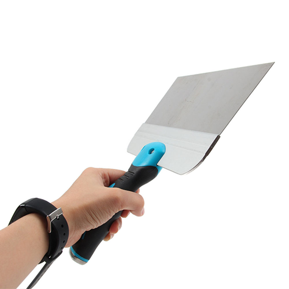 Wall Scraper Flexible Plastic Handle Joint Knife Putty Soft Tool Construction Drywall Professional Stainless Steel Grip