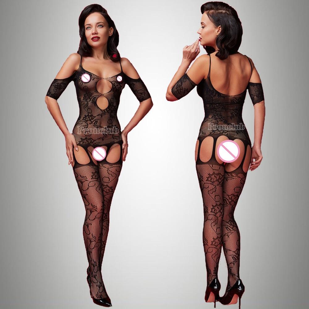 Sexi Women Fishnet Night Dress Hot Bodycon Clubwear Vestido Sexy Costumes Catsuit Erotic Transparent Midi Dresses mujer porno 9