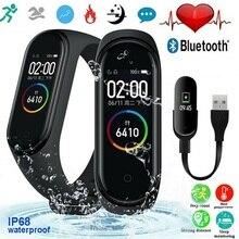 Спортивные Смарт часы M4 Band, цветной экран Ai, пульсометр, спортивный браслет, часы для плавания, распознавание осанки, водонепроницаемость 50 метров