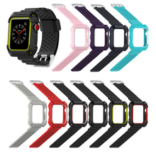 Wristband Replacement For Apple 1/2/3 Universal Breathable Double Color Frame Sports Smartwatch  Silicone Strap 1SH