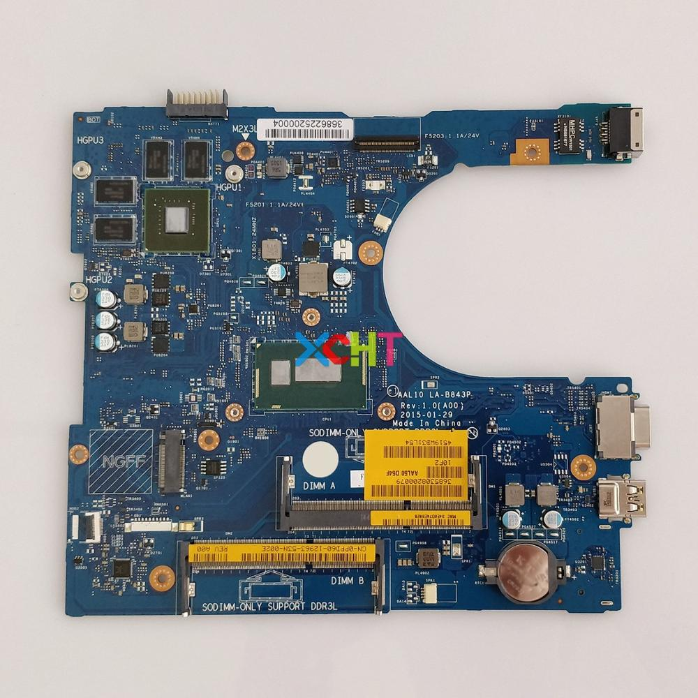 CN-0PPD60 0PPD60 PPD60 AAL10 LA-B843P W I3-4005U CPU W N15V-GM-S-A2 For Dell Vostro 3458 3558 Laptop NoteBook PC Motherboard