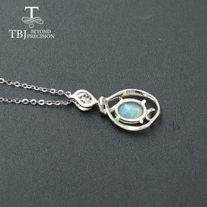 Image 3 - Opal mały wisiorek naturalny kamień etiopii w 925 sterling silver prosta konstrukcja biżuterii ładny prezent na boże narodzenie dla dziewczyny, mama