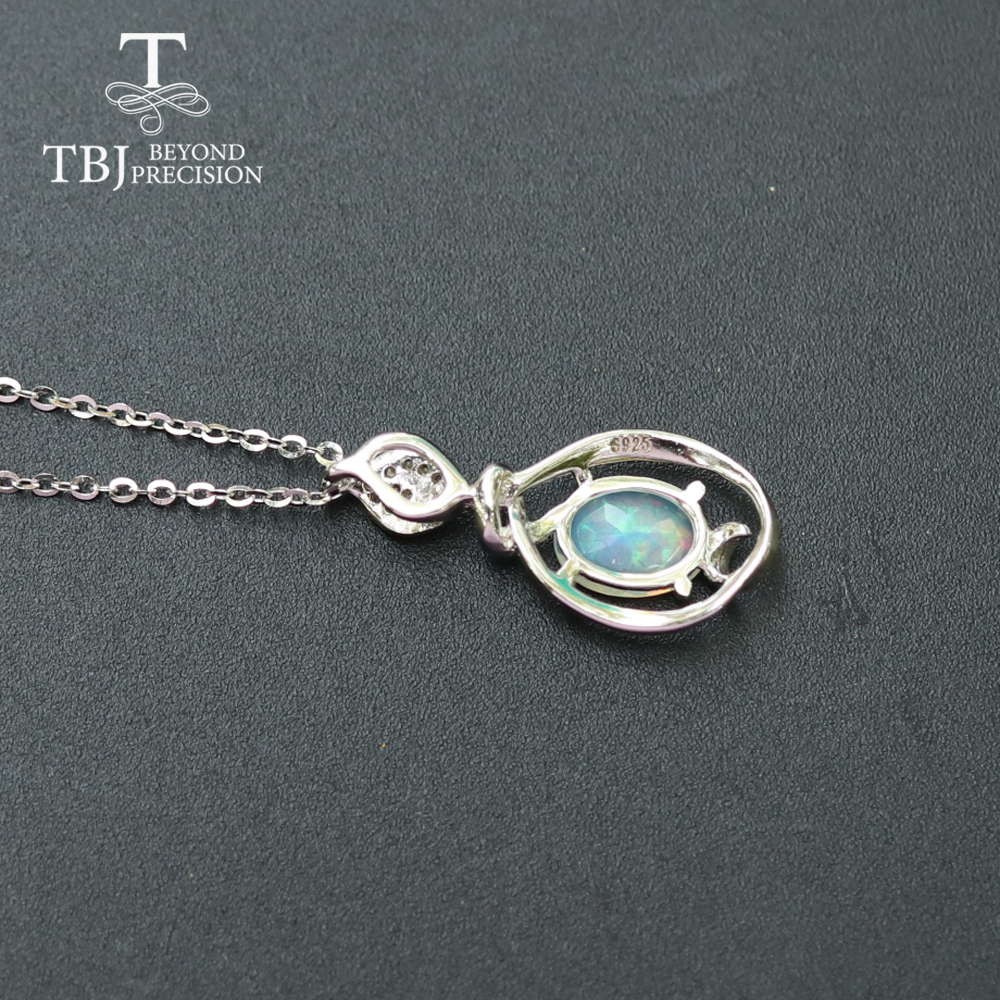 Image 3 - Opal small pendant natural Ethiopia gemstone in 925 sterling  silver simple design fine jewelry nice Christmas gift for  girl,momPendants