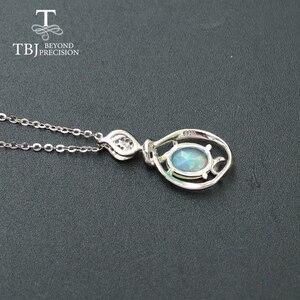 Image 3 - Petit pendentif en pierre précieuse dethiopie naturelle en argent sterling 925, design simple, bijou fin, joli cadeau de noël, pour fille et maman