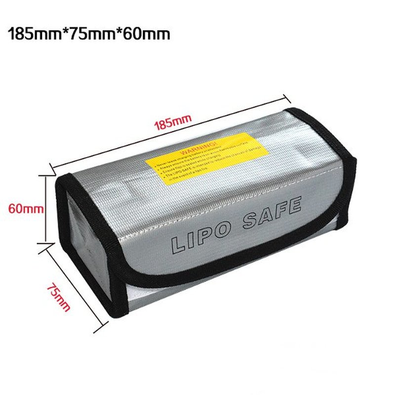 Lipo Battery Portable Fireproof Explosion-proof Safety Bag Fire Resistant 185x75x60mm For RC Lipo Battery