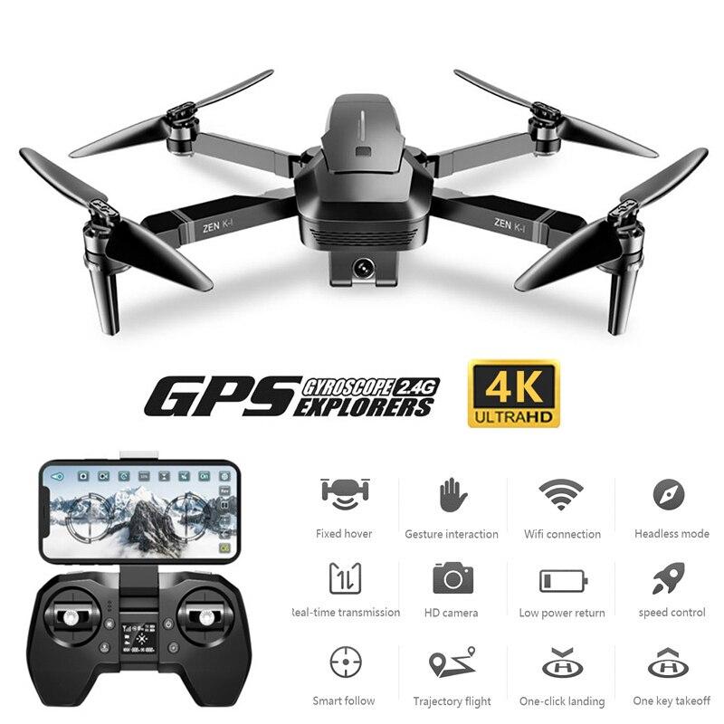 Drone 4K Professional GPS Quadrocopter With 4K Camera HD Brushless Follow Me Drones Dron VS F11 PRO ZEN K1 E520