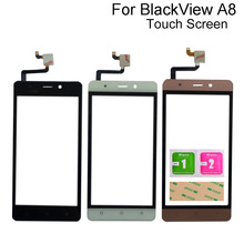 цена на For Blackview A8 Touch Screen Digitizer Panel Sensor Touchscreen Mobile Phone Touch Panel Front Glass Tape