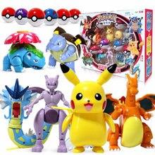 TOMY – Jouets d'action de transformation de pokemon en pokeball pour enfant,figurines de Pikachu, Charizard, Mewtwo, Blastoise, Venusaur, Gyarados,