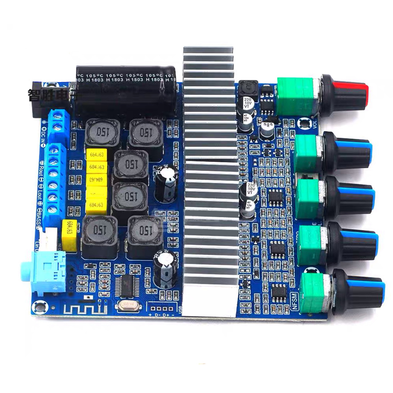 H0f649de616cf41a2a57f22694ca944991 - 2*50W+100W TPA3116 Bluetooth HIFI Power Subwoofer Amplifier Board 2.1 Channel TPA3116D2  Audio Stereo equalizer Amp