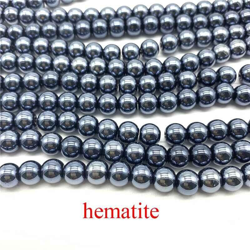 50 Pcs 8 Mm Logam Warna Warna AB Bulat Akrilik Manik-manik Longgar Spacer Beads untuk Perhiasan Membuat DIY Gelang