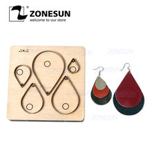 ZONESUN H10 DIY Custom Cutter Leather Earring Cutting Die Leather Cut Out Earring For Steel Rule Die Cutting Machine Press Tools