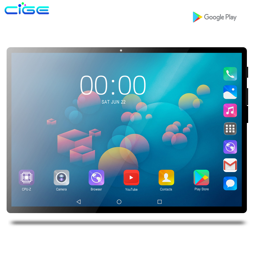 Mx960 10.1 Inch Tablet PC Android 9.0 For Google Play 2.5D Tempered Glass Screen Octa Core SIM 3G 4G LTE WIFI GPS RAM 6GB 128GB