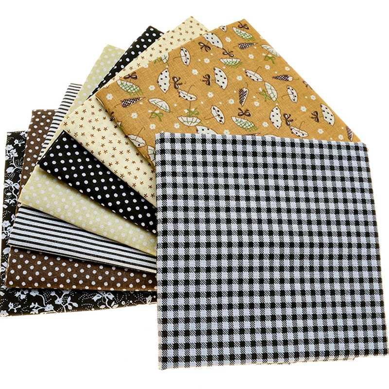 14 ピース/ロット 50 × 50 グレー綿プリント生地縫製キルティング生地基本品質パッチワーク針仕事diy手作り布