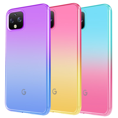 For Google Pixel 4 4XL 3A 3A XL Case Soft TPU Gradient Transparent Coque Slim Protective Back Cover Case For Pixel 3A 4XL Shell