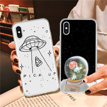 LAUGH LIFE Star Transparent Phone Case For iPhone XR XS Max X Luxury Starry Sky Clear Soft Tpu Cover for 6 7p 8p