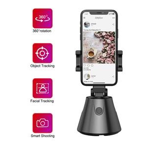 Image 1 - 360 derece telefon tutucu standı otomatik yüz nesne izleme akıllı çekim kamera Selfie sopa rotasyon YouTube canlı akışı Vlog