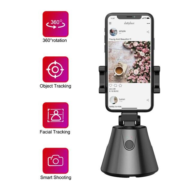 360 derece telefon tutucu standı otomatik yüz nesne izleme akıllı çekim kamera Selfie sopa rotasyon YouTube canlı akışı Vlog