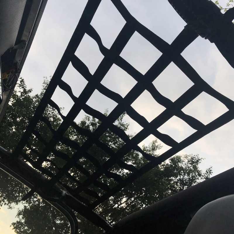 أسود أكسفورد القماش متعددة الوظائف ماجيك ملصق سقف تخزين أرجوحة سقف شبكة حماية 4X10 شبكة مناسبة ل جيب رانجلر