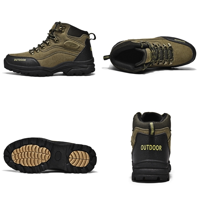Large Size Outdoor Durable Hiking Shoes Waterproof Anti-Skid Climbing Shoes Tactical Hunting Boots Trekking Sports Sneakers Men 2