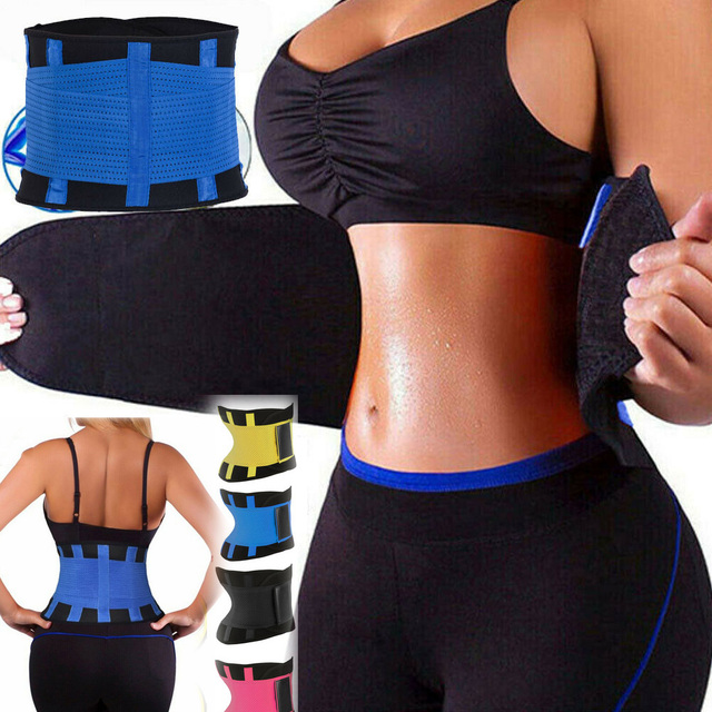 S-3XL Women Waist Trainer Corset Sauna Sweat Sport Girdle Slimming Shaper Belt Abdominal Trimmer Belt Straps Modeling Plus size
