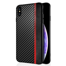 Luxury PU leather phone case for iPhone 7 XR Xs Max Case iPhone 7 shell mosaic carbon fiber case PC shockproof back cover g case for iphone 7 leather skin plating tpu mobile back shell carbon fiber texture coffee