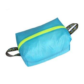 Для походов, путешествий, Водонепроницаемый непромокаемые ультра легкая обувь Портативный силиконовые нейлон Костюмы хранения сумка для о...