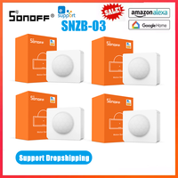 SONOFF-SNZB-03 de casa inteligente ZigBee, Sensor de movimiento, 1/10 °, vista panorámica, notificación de batería baja con eWelink, Alexa y Google Home, 110 Uds.