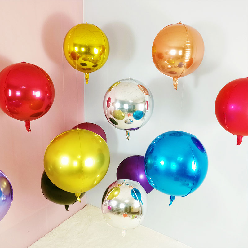 1pc 18 <font><b>22</b></font> 32 Inch gold 4D Round Aluminum Foil Balloon Metal Balloon Wedding Decoration <font><b>Birthday</b></font> Party Helium Ballon Supplies image