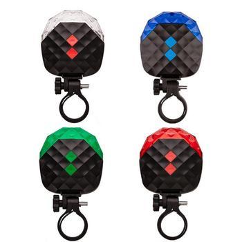 Laserowe światła tylne rower górski rowerowe światła ostrzegawcze led sprzęt kolarski nowe światła rowerowe laserowe światła tylne światła rowerowe tanie i dobre opinie Bicycle taillights Kierownica Baterii AAA battery white red blue green 685 ± 5nm (red) ≤5mw 64g no battery L80 x W69 x H33mm