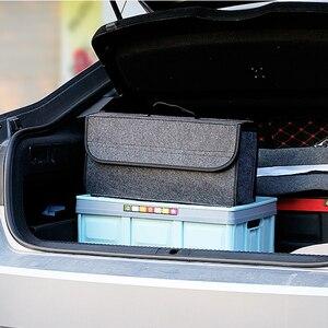 Image 5 - Auto Trunk Organizer Weichem Filz Lagerung Box Große Anti Slip Fach Boot Lagerung Organizer Werkzeug Tasche Auto Lagerung Tasche