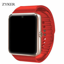 ZYKER Bluetooth Smart Watch Clock Sync Notifier Support Sim TF Card Call Camera  For Android Phone Smartwatch Alloy